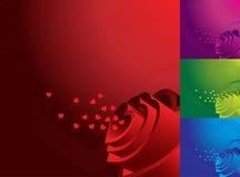 Priorità bassa di giorno dei biglietti di S. Valentino Fotografie Stock Libere da Diritti