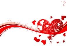 Priorità bassa di giorno dei biglietti di S. Valentino Fotografie Stock