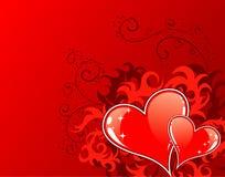 Priorità bassa di giorno dei biglietti di S. Valentino con Fotografia Stock Libera da Diritti