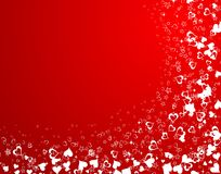 Priorità bassa di giorno dei biglietti di S. Valentino con Immagini Stock Libere da Diritti