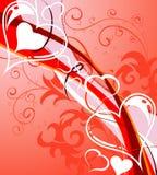 Priorità bassa di giorno dei biglietti di S. Valentino con illustrazione vettoriale