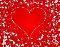 Priorità bassa di giorno dei biglietti di S. Valentino con Immagini Stock