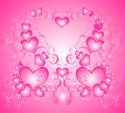 Priorità bassa di giorno dei biglietti di S. Valentino con cuore Fotografia Stock