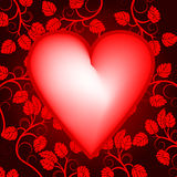 Priorità bassa di giorno dei biglietti di S. Valentino con cuore illustrazione vettoriale