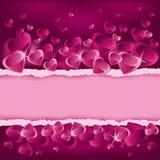 Priorità bassa di giorno dei biglietti di S. Valentino con il posto per testo Fotografie Stock