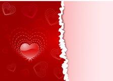 Priorità bassa di giorno dei biglietti di S. Valentino della st Fotografia Stock Libera da Diritti