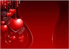 Priorità bassa di giorno del biglietto di S. Valentino illustrazione di stock