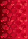 Priorità bassa di giorno del biglietto di S. Valentino Immagine Stock
