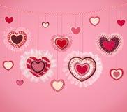 Priorità bassa di giorno del biglietto di S. Valentino Fotografie Stock