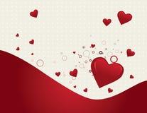 Priorità bassa di giorno del biglietto di S. Valentino Immagini Stock Libere da Diritti