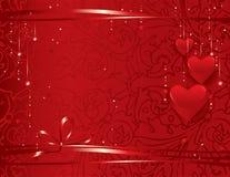 Priorità bassa di giorno del biglietto di S. Valentino Fotografie Stock Libere da Diritti