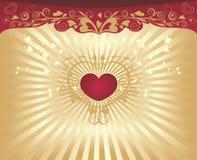 Priorità bassa di giorno del biglietto di S. Valentino royalty illustrazione gratis