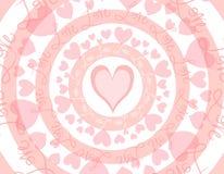 Priorità bassa di giorno del biglietto di S. Valentino circolare di amore Fotografie Stock Libere da Diritti