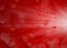 Priorità bassa di giorno del biglietto di S. Valentino con i cuori Immagine Stock Libera da Diritti