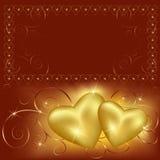 Priorità bassa di giorno del biglietto di S. Valentino con il posto per testo Immagine Stock Libera da Diritti