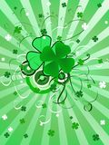 Priorità bassa di giorno di St.Patrick Fotografia Stock