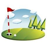 Priorità bassa di golf Fotografia Stock