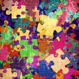 Priorità bassa di Grunge con i puzzle Fotografie Stock Libere da Diritti