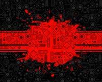 Priorità bassa di Grunge con i simboli Fotografia Stock Libera da Diritti