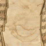 Priorità bassa di Grunge con il bordo di musica per il disegno Immagine Stock Libera da Diritti