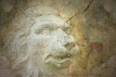 Priorità bassa di Grunge con il leone Immagine Stock Libera da Diritti
