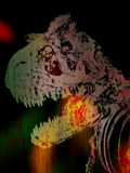 Priorità bassa di Grunge del dinosauro Royalty Illustrazione gratis