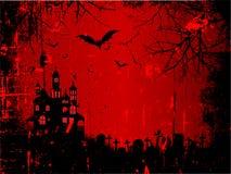 Priorità bassa di Grunge Halloween Immagini Stock
