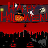 Priorità bassa di Halloween. Immagine Stock