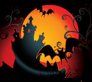 Priorità bassa di Halloween Fotografia Stock