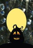 Priorità bassa di Halloween con la zucca Fotografie Stock Libere da Diritti