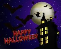 Priorità bassa di Halloween con testo 3D Fotografie Stock