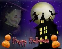 Priorità bassa di Halloween spettrale Immagini Stock