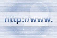 Priorità bassa di internet address Fotografie Stock Libere da Diritti
