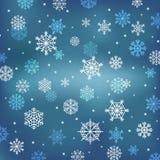Priorità bassa di inverno con i fiocchi di neve Immagini Stock Libere da Diritti
