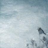 Priorità bassa di inverno con l'uccello royalty illustrazione gratis