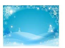 Priorità bassa di inverno del fiocco di neve illustrazione di stock