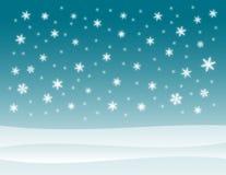 Priorità bassa di inverno dello Snowy Fotografia Stock Libera da Diritti