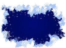 Priorità bassa di inverno di Grunge con ghiaccio e neve Immagini Stock