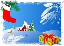 Priorità bassa di inverno - vettore illustrazione di stock