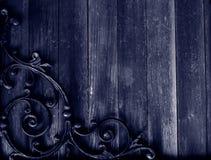 Priorità bassa di legno & del ferro di Grunge Fotografie Stock