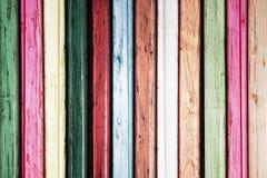 Priorità bassa di legno colorata Fotografia Stock