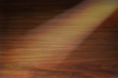 Priorità bassa di legno con il riflettore Immagini Stock