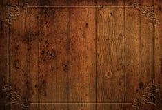 Priorità bassa di legno decorativa di Grunge Fotografia Stock Libera da Diritti