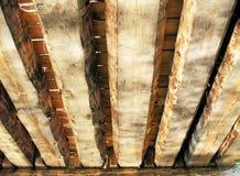 Priorità bassa di legno del ponticello Fotografia Stock