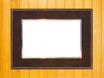 Priorità bassa di legno della cornice dell'annata Fotografia Stock Libera da Diritti