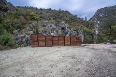 Priorità bassa di legno della plancia di vettore Fotografia Stock