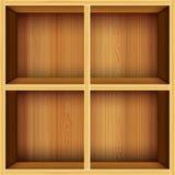 Priorità bassa di legno delle mensole di vettore Fotografia Stock