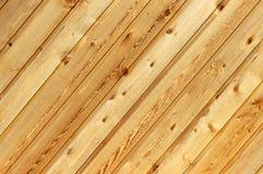 Priorità bassa di legno diagonale Fotografia Stock Libera da Diritti