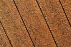 Priorità bassa di legno diagonale della plancia Fotografia Stock