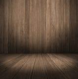 Priorità bassa di legno esposta all'aria raccordo del pavimento e della parete Immagini Stock